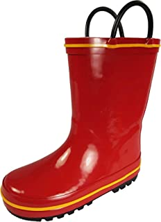 NORTY Waterproof Rubber Rain Boots for Kids - Boys and Girls Solid & Printed Rainboots for Toddlers and Kids
