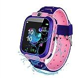 F-FISH Smart Watch Phone per Bambini IP67 Impermeabile,Orologio Smart Phone LBS Anti-Perso con Chat Vocale, Sveglia SOS per il Gioco di Matematica Studente Smart Watch,Regalo Ragazzo e Ragazza (Rosa)
