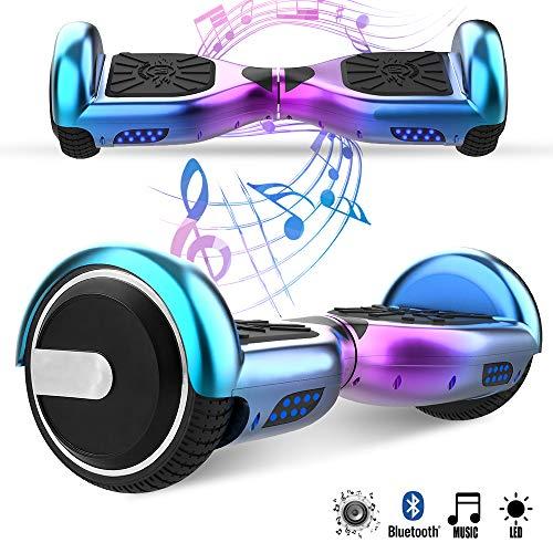 Magic Vida 6.5\'\' Self Balance Scooter Elettrico in Offerta Bluetooth con LED Auto bilanciamento(Ciano Viola)