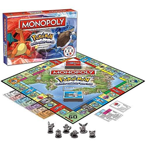 Hard Disk Juego de Mesa Pokemon Monopoly, Juego de Estrategia Familiar para Adultos y Adolescentes de 8 años en adelante