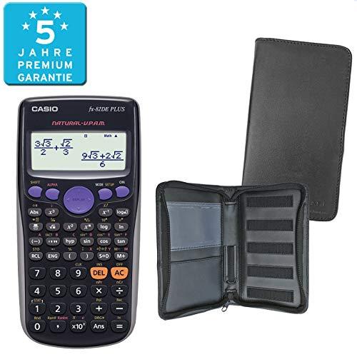 Casio FX-82DE Plus (SCHULpaket) + Erweiterte Garantie + Schutztasche : calcumio Artikel Set
