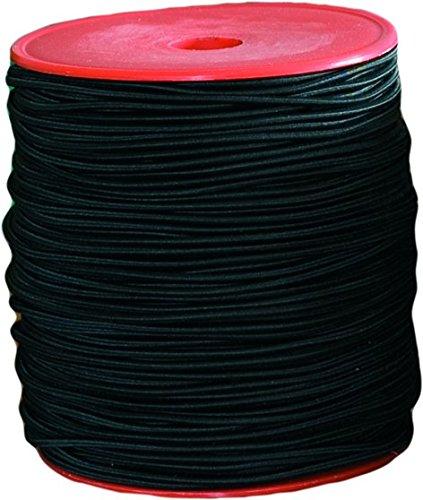 Corderie Italiane 006004981 Cordon élastique, 3 mm - 15 m, Noir