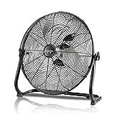 Ventilador de piso para gimnasio/Ventilador de tambor orbital industrial de alta velocidad/Ventilador industrial/Ventilador eléctrico de sobremesa con 3 velocidades y cabezal de ventilador ajustable