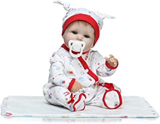 "Reborn Baby Doll, 100% Handmade Soft Silicone 15.7"" /40cm Lifelike Newborn Doll Girl for Children-RB146"