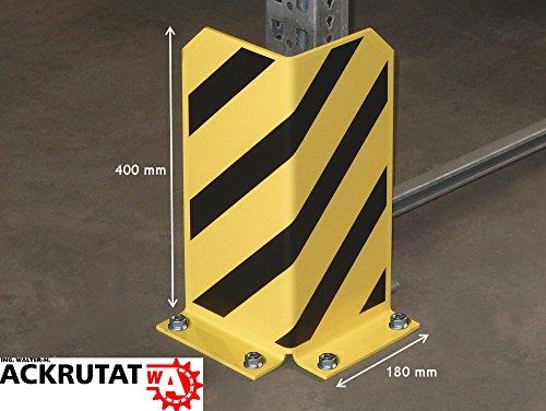 Rammschutz Anfahrschutz Winkel-Profil, 90 GradWinkel,400 mm hoch,gelb lackiert, schwarze Streifen