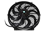 A-Team Performance 110011 Electrical Radiator Cooling Fan 14' Heavy Duty 12V Wide Curved 8 Blades 2400 CFM Reversible Push or Pull with Mounting Kit