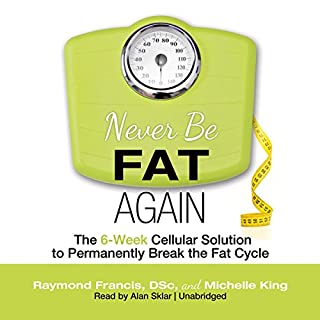 Never Be Fat Again audiobook cover art