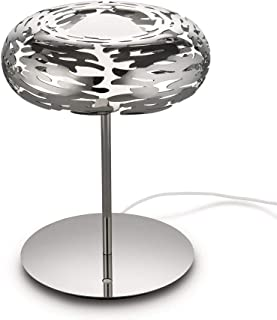 Alessi Barklamp BM11 - Design LED Lamp with Openwork Decoration, 18/10 Stainless Steel, Mirror Polished