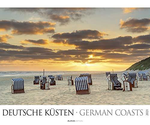 Deutsche Küsten 2021 - Bild-Kalender XXL 60x50 cm - Nordsee - Ostsee - Landschaftskalender - Natur-Kalender - Wand-Kalender - Alpha Edition