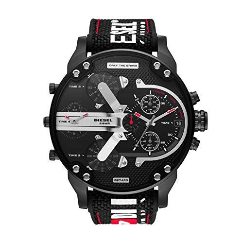 Diesel Mr Daddy 2.0 Multimovement Bonded Silicone/Nylon Watch