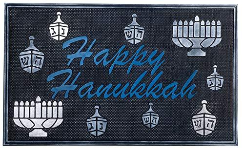 Hanukkah Gifts Chanukah Hanukkah Decorations Menorah Dreidel Pattern - Funny Door Mats Judaica Welcome Mats Front Door Mats 30' x 18'