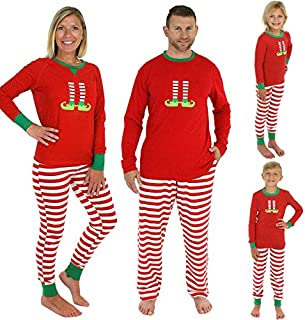 Festnight Christmas Set,Christmas Family Men Pajamas Sets Long Sleeve T-shirt Striped Pants Xmas Sleepwear Nightwear Outfi...