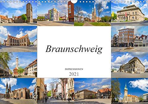 Braunschweig Impressionen (Wandkalender 2021 DIN A3 quer)