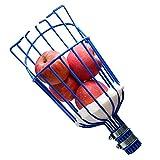SANLIKE Fruit Picker Basket Head for Apple Avocado Lemon Peach Fruit Tree Grabber Tool Twist on Standard US (3/4inch Acme) Threaded Pole (Head Only) (Blue)