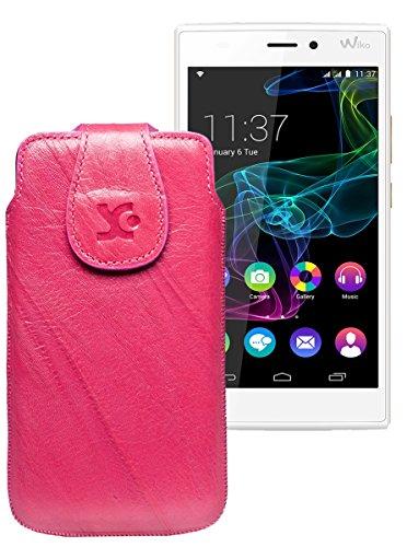 Original Suncase Tasche für / BlackBerry Leap / Leder Etui Handytasche Ledertasche Schutzhülle Hülle Hülle / in wash-pink