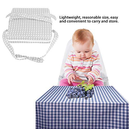 jadenzhou Sitzerhöhungskissen, sicheres Sitzerhöhungskissen mit verstellbaren Trägern für den Heimgebrauch für Babys(Silver, Star)