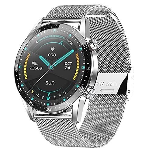 CZX Nuevo Reloj Inteligente Hombres Y Mujeres Pantalla Táctil Completa Deportes Fitness Tracker Watch IP67 Bluetooth Impermeable para Android iOS Smartwatch Hombres,C