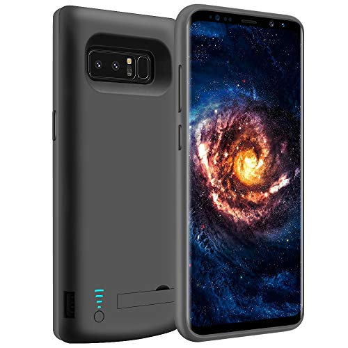 LOYTAL Battery Case for Samsung Galaxy Note 8, 6500mAh Rechargeable Battery Charging/Charger Case with S-Pen Hole, Adds 1.4X Extra Juice, Charges 2 Devices Simultaneously