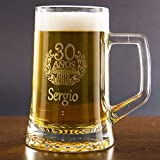 Calledelregalo Regalo Personalizable para cumpleaños: Jarra de Cerveza grabada con el Nom...
