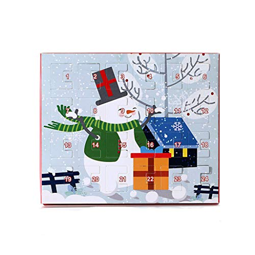 Yowablo Halskette Armband Weihnachten Adventskalender Geschenkbox DIY Mit 22 Charms Set (C)