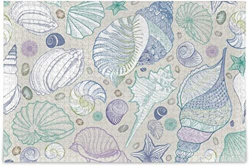 Rompecabezas para adultos, 1000 piezas, diseño de conchas marinas para niños, diferentes rompecabezas, decoración del hogar, 50,8 x 76,2 cm