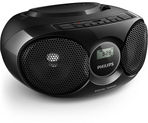 Philips AZ318B/12 - Reproductor CD (USB, MP3-CD, Radio FM) color negro