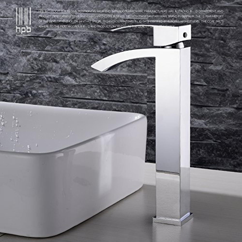 LHbox Wasserfall Kunst Waschbecken Wasserhahn Warmes und Kaltes Volle Kupferoberflche Waschbecken Waschtisch Armatur, HP 3120