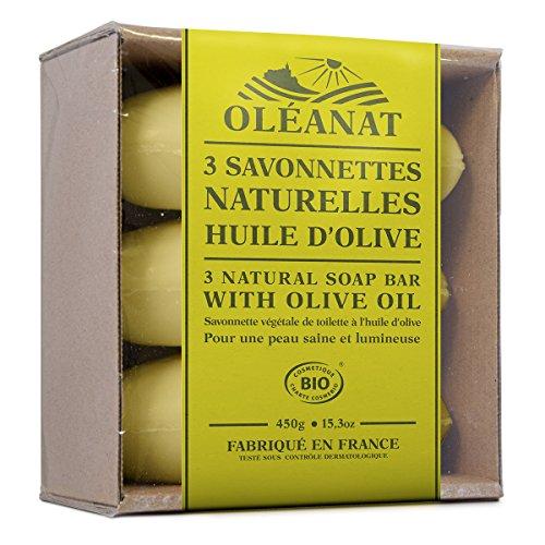 Oléanat Trio Savonnettes Olive Bio 150 g