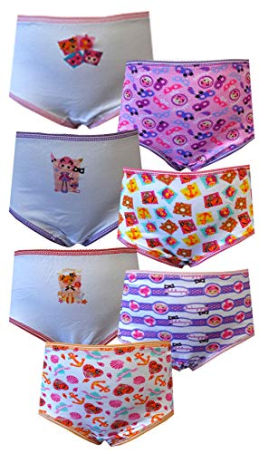 Lalaloopsy Peggy Seven Seas & Confetti Carnival 7 Pack Panties for girls (2T-3T)