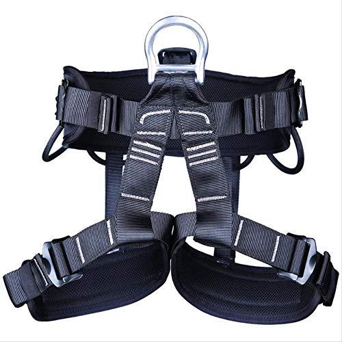 XYQY Klettergurt Outdoor Camping Wandern Klettergurte Kletterseil Half Body Waist Support Sicherheitsgurt Harness Luftwand AusrüstungSchwarz