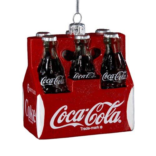 Kurt Adler Dekofigur Coca-Cola, Glas, 8,9 cm, 6 Stück