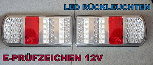 A1 2 x LED Rückleuchten Set Heckleuchte LED Rückleuchte LKW PKW Wohnmobil Wohnwagen Anhänger Leuchte LED Rückleuchten Anhänger Rücklicht Leuchte Licht 12 V DF06