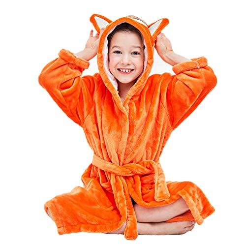 YUYAXPB kinderbadhanddoeken met capuchon, schattige Fox Robe badjas flanel, baby zwemmen strand poncho handdoeken voor meisjes jongens, 0-8 jaar oud