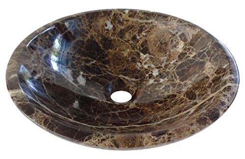 Spagnolo Marrone Scuro Emperador Natura marmo bacino lavabo 35cm x 12cm (b0039)