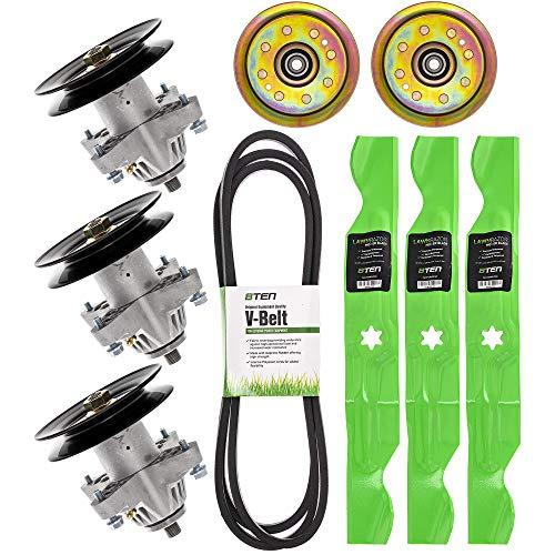 8TEN Spindle Blade Belt Screw Idler Deck Rebuild Kit for Cub Cadet MTD Troy Bilt LGT1050 i1050 SLT1550 50 inch Deck