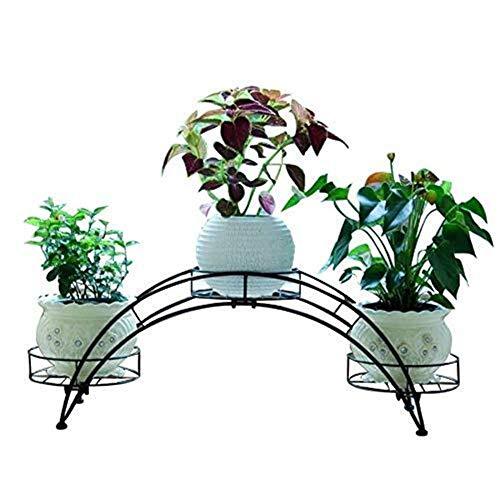 LYHY Étagère à Fleurs Support de Plante en Fer forgé cintré européen intérieur Cour Pot Pot Rack autoportant métal 3 Pot Support de Plante Pas Facile à déformer