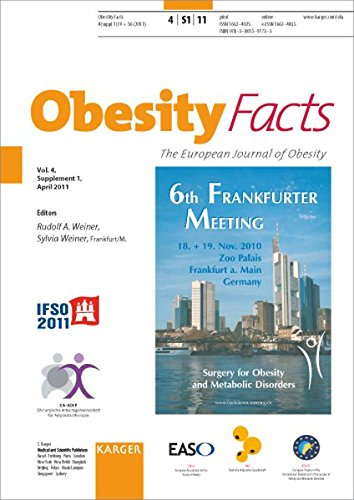 Surgery for Obesity and Metabolic Disorders: 6th Frankfurt Meeting, Frankfurt/M., November 2010. Supplement Issue: Obesity Facts 2011, Vol. 4, Suppl. ... Journal of Obesity; Vol 4, Suppl 1, 2011