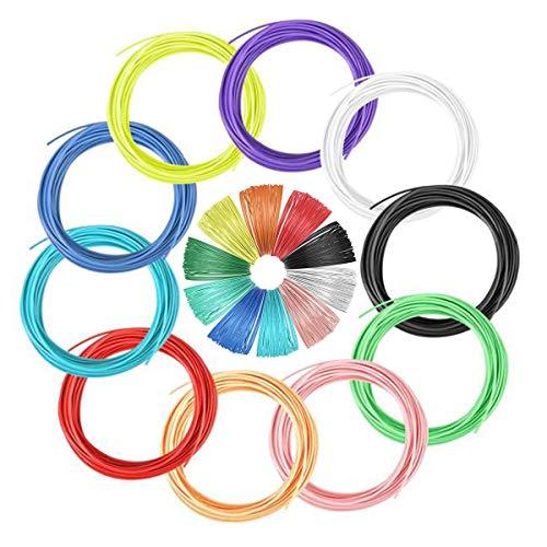 KDOI 10 Filamenti per stampante 3D Multicolore Pack 1,75 Mm Acido polilattico