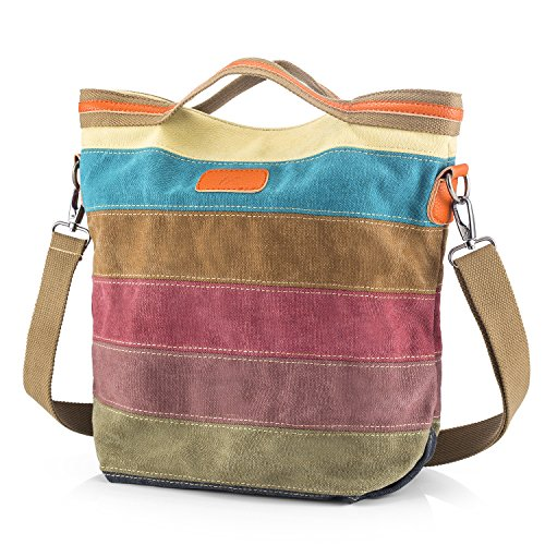 """Material:Cotton Canvas/Dimensions:(23- 34 L x 33.9 H x 14 W cm) (9""""-13"""")L x 13 """"H x 5.5 """"W / Weight:0.58 KG Inside there are two pleated pockets and on the opposite side is a large pocket and two zippered pockets on either side of it. The top of the ..."""