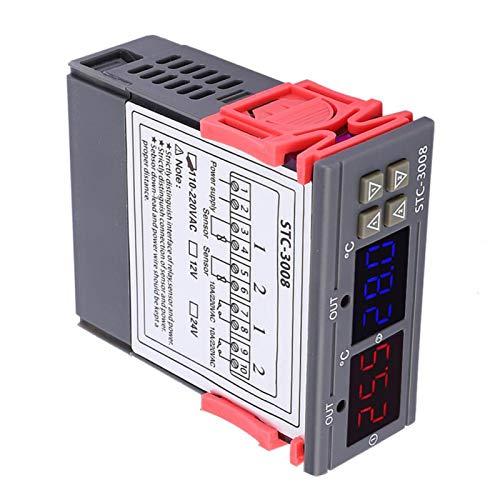 Termostato, control de temperatura intuitivo y robusto por microordenador, conveniente más claro para dispositivos de calefacción de refrigeración(24V)