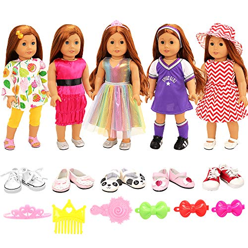 BARWA 5-Outfit Set with Shoes and Hair Accessories