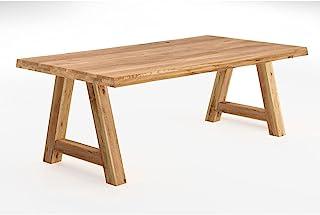 Table de salle à manger avec structure en bois en forme de A Chêne 200 x 100 cm