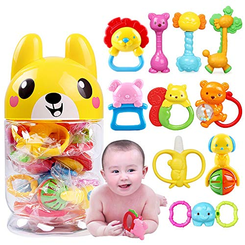Best Review Of DHUYUN Children Interactive Toys Toddler Rattles Set Sound Toys Silicone Musical Educ...