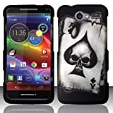 ACE SPADE SKULL Hard Plastic Design Matte Case for Motorola Electrify M XT901 (US Cellular) + Car Charger  In Twisted Tech Packaging 