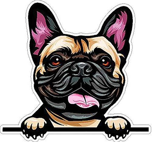French Bulldog Decal - Peeking Smiling Dog Breed Full Color