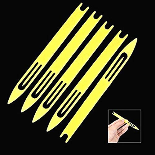5 x Netz-Reparaturnadel 5# Kunststoff Angelnetz Reparatur Nadel Shuttles Gelb