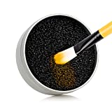 Makeup Brush Cleaner – Dry Color Removal Sponge Cleans Natural and Synthetic Makeup Brushes Without Water or Chemicals – Double-Sided, Reusable and Travel-Friendly