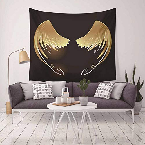 Djkaa Modern Wing Patroon wandtapijt Home decoratieve Hippie Macrame wandbehang Boheemse stijl strandlaken Boho Mandala tapijten 150 x 150 cm.