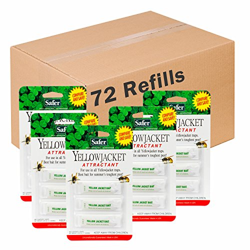Safer Brand Deluxe Yellow Jacket Trap Bait 3 Refills per Pack - 24 Pack 02006