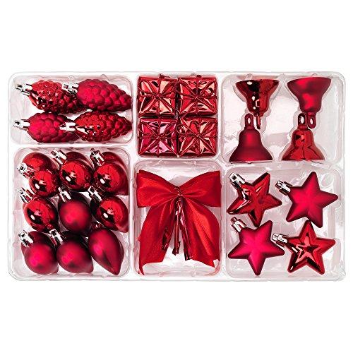 IKEA VINTER 2015 40305848 クリスマス ハンギング デコレーション29点セット レッド